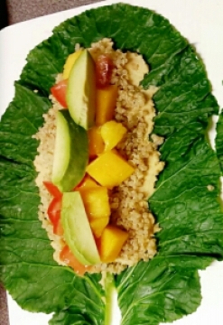 Rainbow Collard Green Wraps