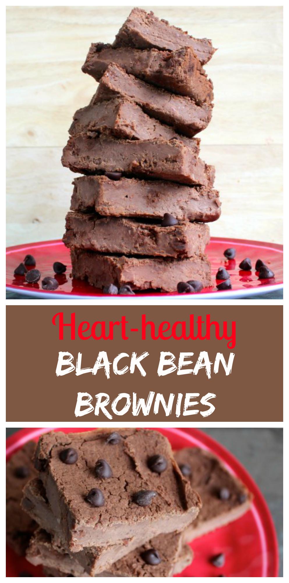 Heart-healthy Black Bean Brownies - Low-glycemic, Vegan, Gluten-free